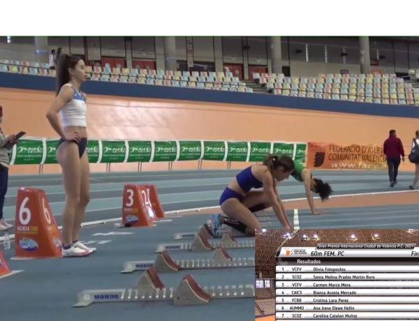 Ακόμα πιο γρήγορη η Ολίβια Φωτοπούλου στα 60μ. κλειστού